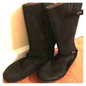 Merrell Grip Black Suede Mid Calf Boot